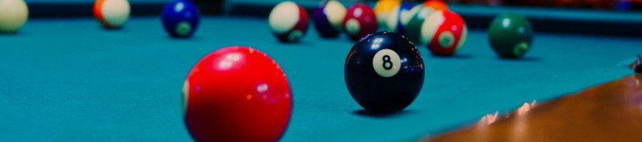 Decatur pool table assembly featured